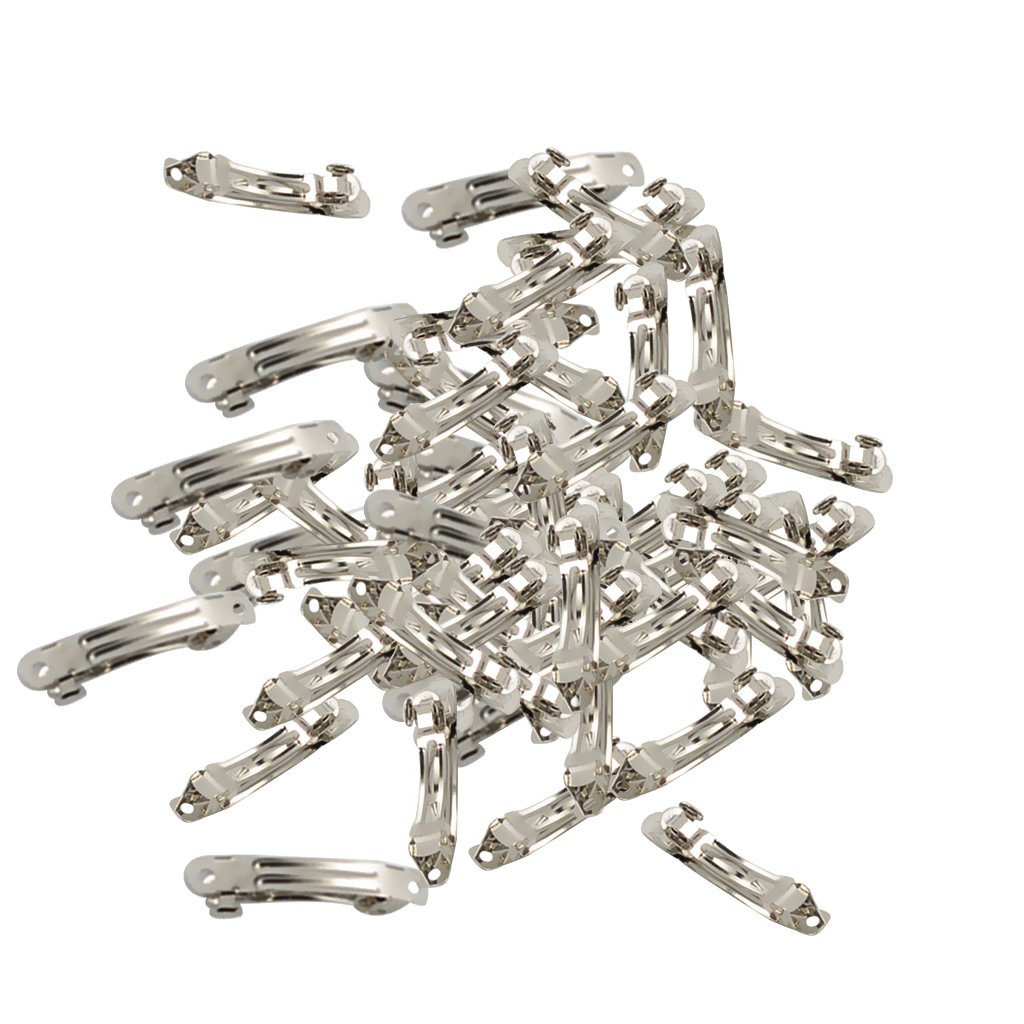 Jili-Online-50-Pieces-Silver-Color-Metal-French-Barrettes-Clips