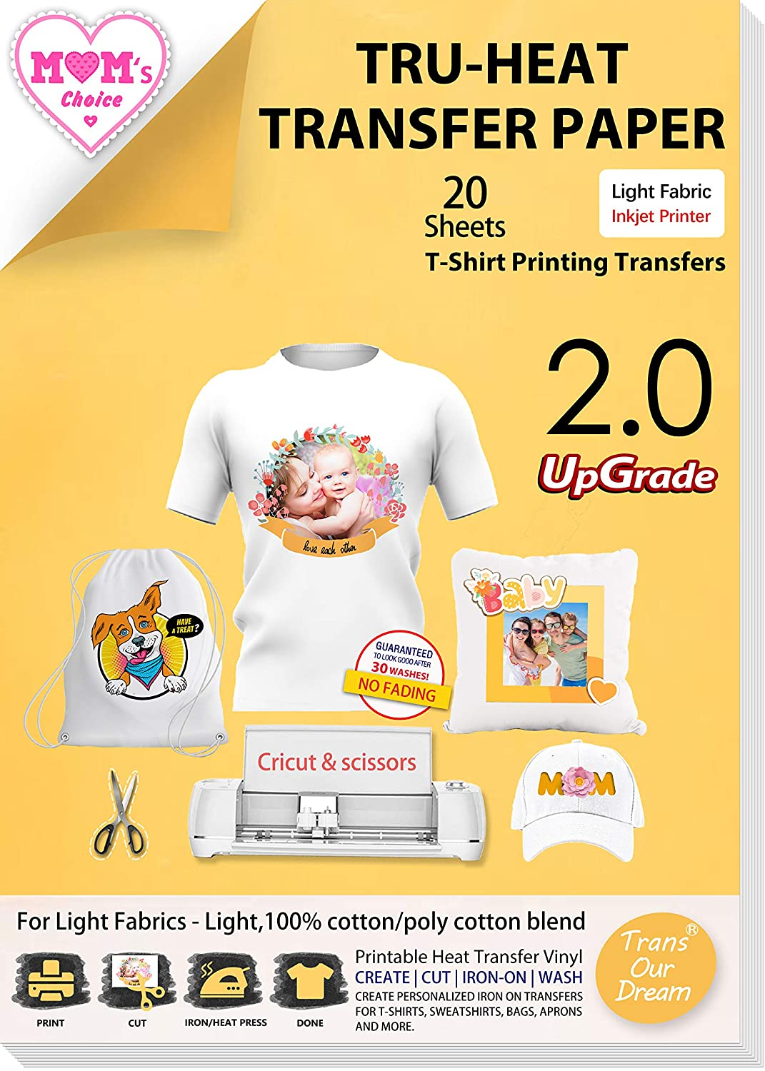 TransOurDream Upgraded Iron on Heat Transfer Paper