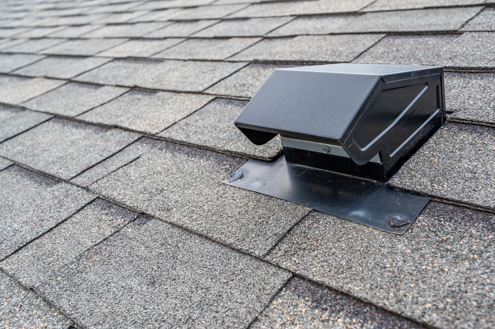 Typical,Static,Passive,Vent,Installation,On,A,Residential,Roof